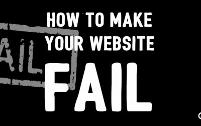 How to Make Your Website Fail