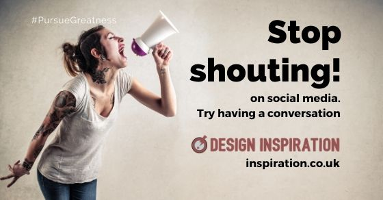Stop shouting on social