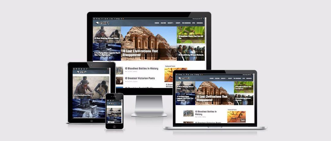 Web Design Showcase: Eskify.com